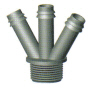 Tri  Barb Hose Adaptor /  Hose Fitting