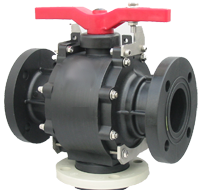 3 Way PP Ball Valve FLG