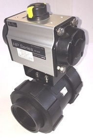 PP BLACK BALL VALVES WITH ACTUATOR