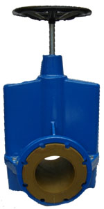 "6"" MANUAL PN16 FLANGED PINCH VALVE"