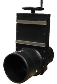 315MM PEHD SPIGOTED SLIDE GATE VALVE WITH HANDWHEELs